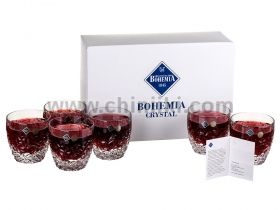 Nicolette кристални чаши за уиски 350 мл - 6 броя, Bohemia Crystal