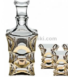 X Lady Gold кристална гарафа за уиски 700 , Bohemia Crystal